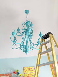 Painted Chandelier Painted Chandelier Makeover Southern Revivals