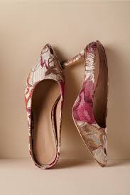 red pink motif romie brocade mules in bride bhldn red pink motif romie brocade mules bhldn