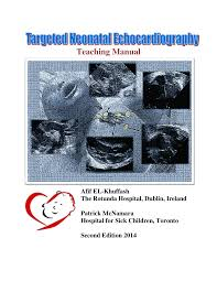 neonatal echocardiography teaching manual pdf download available