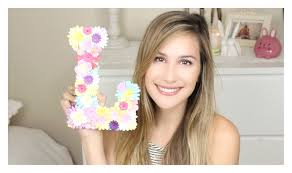 Flower Decorations For Hair Diy Flower Letter Decor Lana Youtube