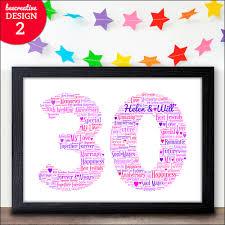 30th wedding anniversary gift ideas 30th wedding anniversary gifts 30 personalised anniversary