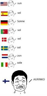 Different Languages Meme - thisisfinland on twitter want to learn some finnish