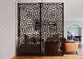 Industrial Room Dividers Partitions - intricate design of this room partition adds to this interior