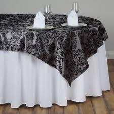wholesale wedding linens 12 pcs 72 square damask flocking table overlays wholesale wedding