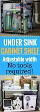 organize w this adjustable under sink cabinet u0026 kitchen cabinet