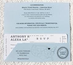 wedding cards usa snow flakes usa map airline ticket wedding invitations