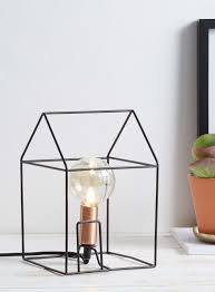 house outline table lamp black bhs interior design