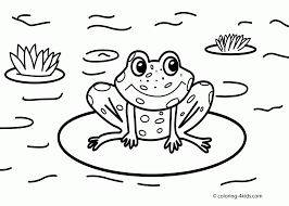 frog coloring pages for preschoolers archives within frog coloring