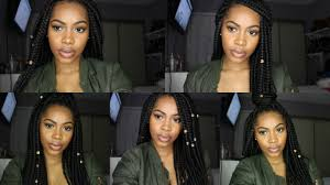 Hairstyles Easy And Quick by How I Style My Box Braids 5 Quick And Easy Hairstyles Youtube