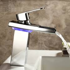 Vessel Faucets Oil Rubbed Bronze Waterfall Bathroom Sink Faucet