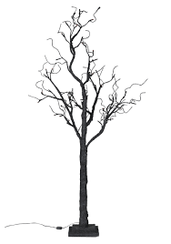 Twig Tree Home Decorating Decorating Brown Tree With Lighted Branches On Wooden Floor And