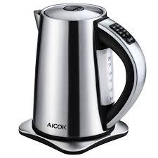 amazon com aicok electric kettle variable temperature control