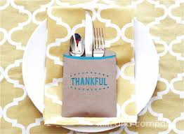 thanksgiving table decor blessed and thankful silverware holders