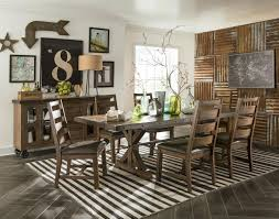 living room furniture ta intercon taos 5 piece rectangular table and chair set with self