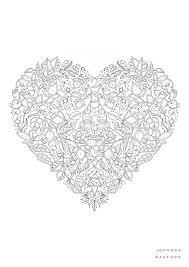 johanna basford valentines colouring jb johanna