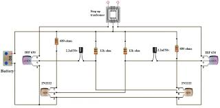 wiring diagram simple inverter circuit diagram 12v to 220v 1