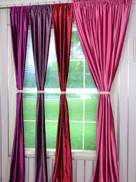 Curtains 240cm Drop Ready Made Hotham Pink Red And Purple Plain Ready Made Eyelet Blackout Velvet