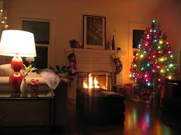 christmas living room fireplace iron fence fireplace white