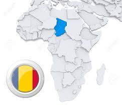 Chad Map 3d Modeled Map Of Africa With Highlighted State Of Chad With