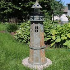 sunnydaze outdoor solar led lighthouse patio deck yard landscape