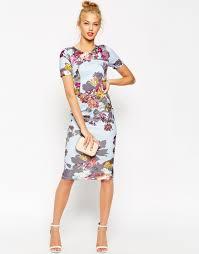 asos floral t shirt bodycon midi dress interviews pinterest