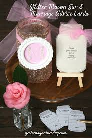 Marriage Advice Cards For Wedding Glitter Mason Jar And Marriage Advice Cards Yesterday On Tuesday
