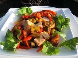 cuisiner celeri branche recette de filet de poulet aux poivrons et celeri branche