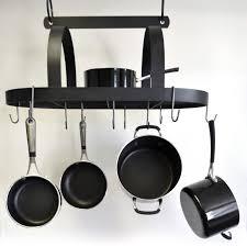 j amp j wire hanging pot and pan rack with shelf walmart com