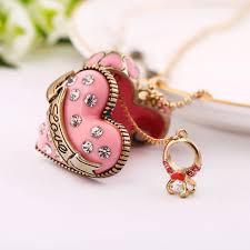 long heart pendant necklace images Long bead chain open heart pendant jpg