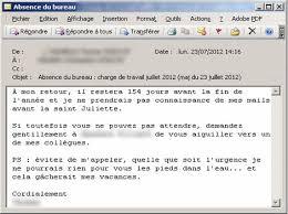 message d absence du bureau vos mails d absence révèlent quel employé vous êtes