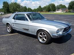 1967 Mustang Black 1967 Mustang Cpe 289v8 Silver Black Stripes Runs Great