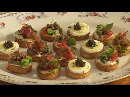 traditional canapes canapés