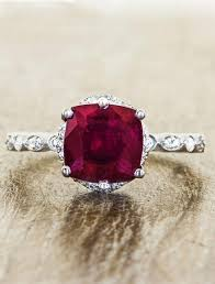 ruby and engagement rings loved vintage inspired cushion cut ruby engagement ring ken