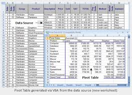 excel vba free online reference guide pivot table objects