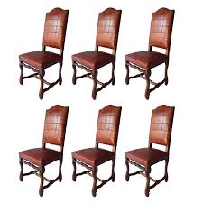 Red Dining Chairs Set Of Six Antiques Os Du Mouton Chairs In Oxblood Red Leather