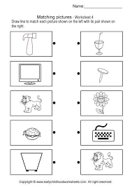 matching picture brain teaser worksheets 4