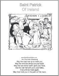 saint coloring page short irish blessings and coloring pages