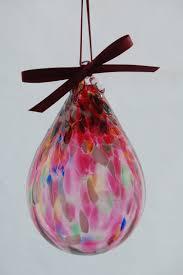 teardrop ornaments elias studios glass