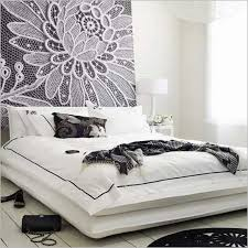 Black And White Wall Decor For Bedroom Bedroom Interior Casual Black And White Bedroom Using Purple