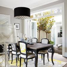 Dining Table With Cabriole Legs Transitional Dining Room - Black and white dining table with chairs