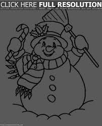 snowman coloring pages for kids printable winter snowman kids