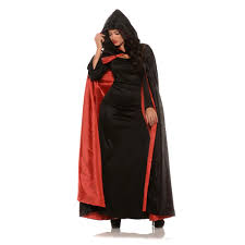 halloween costume with cape hooded black velvet cape with red or purple lining medieval