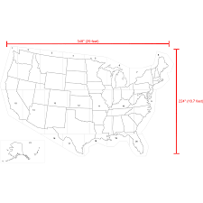 Unitrd States Map by Shop Stencil Ease 29 U0027 X 19 U0027 United States Map Stencil At Lowes Com