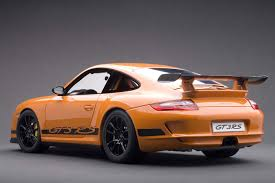 black porsche gt3 autoart die cast model porsche 997 gt3 rs orange with black