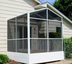 shed roof screened porch white screen porch enclosure with gable roofline and removeable