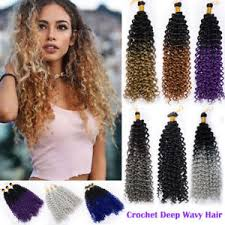 crochet hairstyles human hair top full head water wave deep curly crochet braids 100 human hair