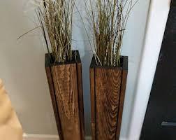 floor vases home decor single rustic floor vase wooden vase home decor decorative