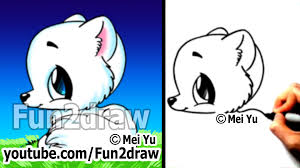 easy things to draw cute animals drawing tutorial arctic fox
