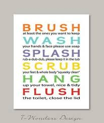 wall art ideas design removable printed kids bathroom wall art