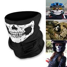 Motorcycle Halloween Costume Skull Ghost Face Windproof Mask Bandana Bike Motorcycle